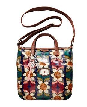 aacfaa163 Fossil Handbag, Vintage Key-Per Coated Canvas Crossbody Bag   Bags ...