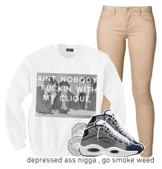 """""""Reeboks on i just do it nxgga."""" by luhariiee ❤ liked on Polyvore featuring ONLY, Reebok and 66"""