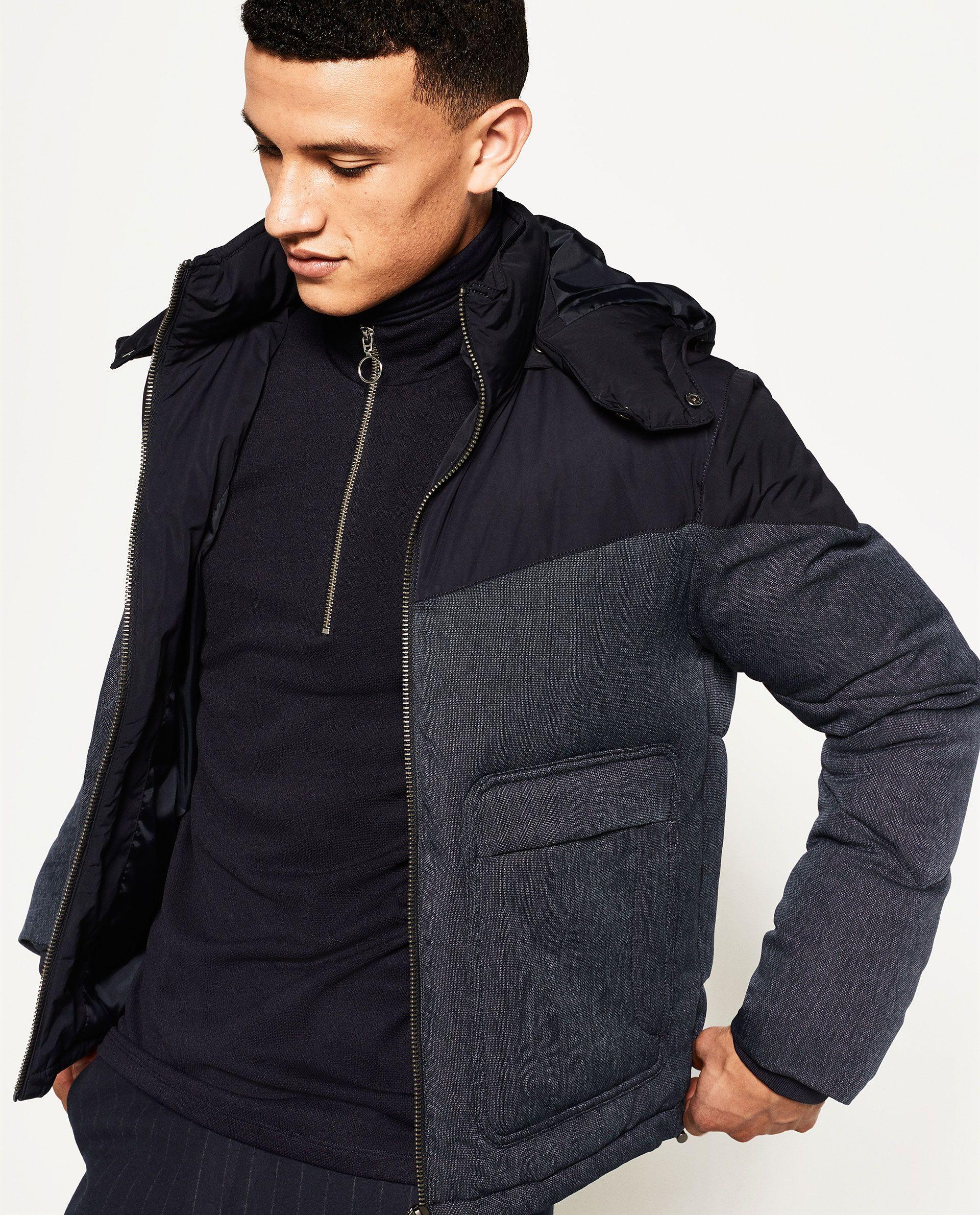 ZARA MAN HOODED JACKET Zara catalogue, Hooded jacket
