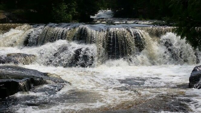 Bond Falls in the U P of Michigan as seen on the 4th of July 2015