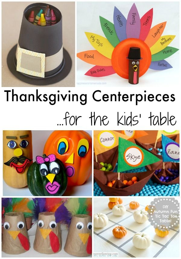 Thanksgiving Centerpieces For The Kids Table Thanksgiving Diy