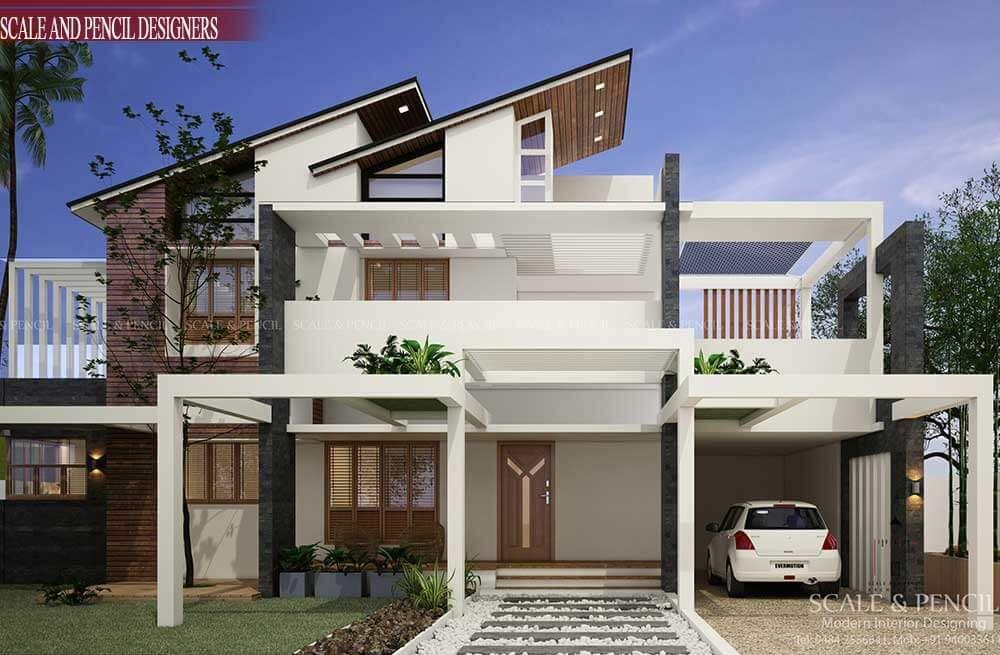 Contemporary Home Designs Kochi Edappally Ernakulam Kerala New Model House Modern House Design Kerala House Design