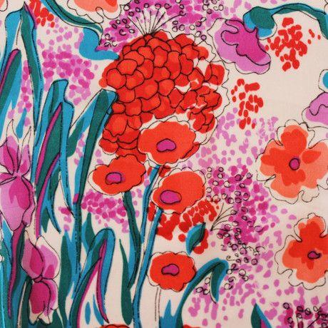 Floral Wash Satin