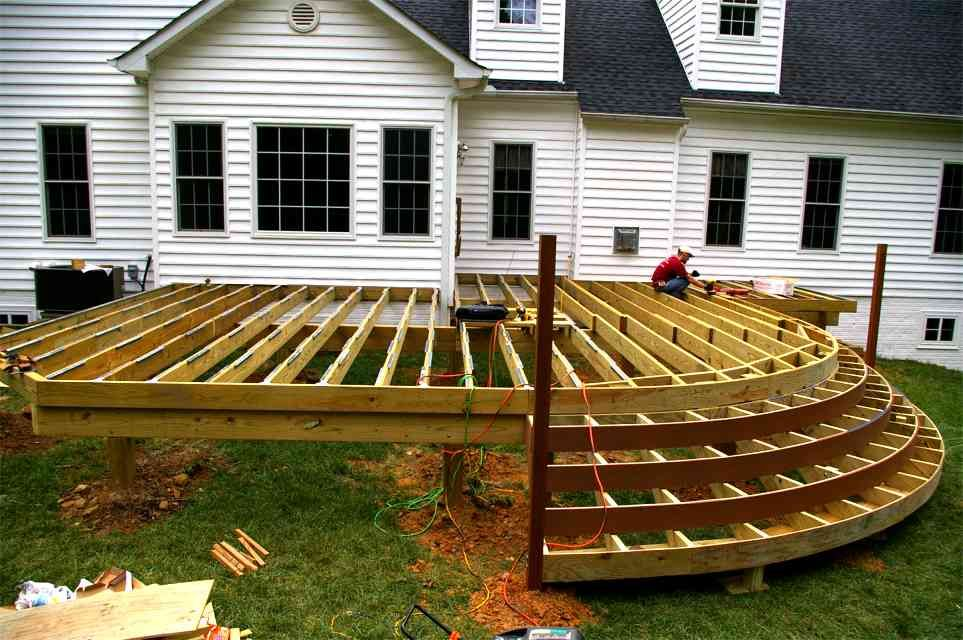 How To Design A Deck For The Backyard how to build a simple diy deck on a budget Patio Design Ideas And Deck Designs Deck Ideas Deck Planswood