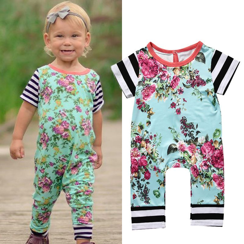 >> Click to Buy << Floral Newborn Baby Girl Infant Romper Jumpsuit Girls Summer Clothes One-Pieces Outfits Sunsuit #Affiliate