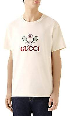 d5dfbe12eecd47 Gucci Men's Oversize Tennis T-Shirt in 2019 | Products | Gucci men ...