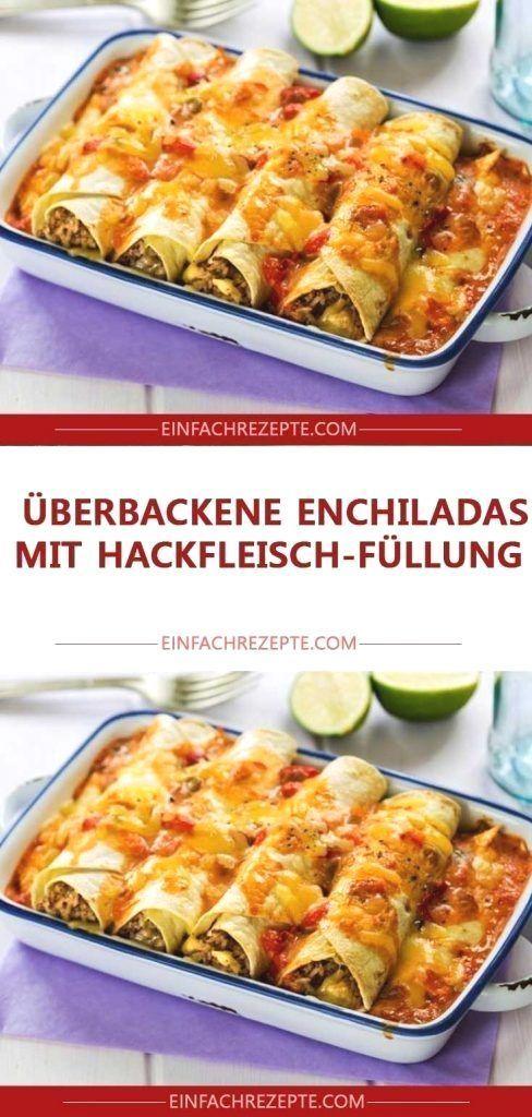 Gebackene Enchiladas mit Hackfleischfüllung     Überbackene E  Gebackene Enchiladas mit Hackfleischfüllung     Überbackene E