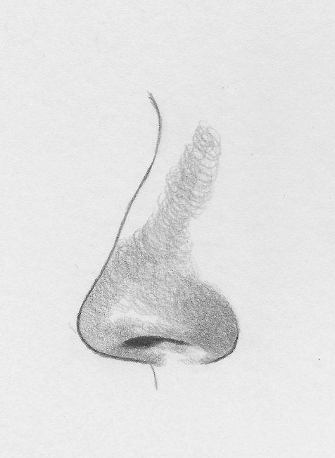 how to draw a mouth from the side
