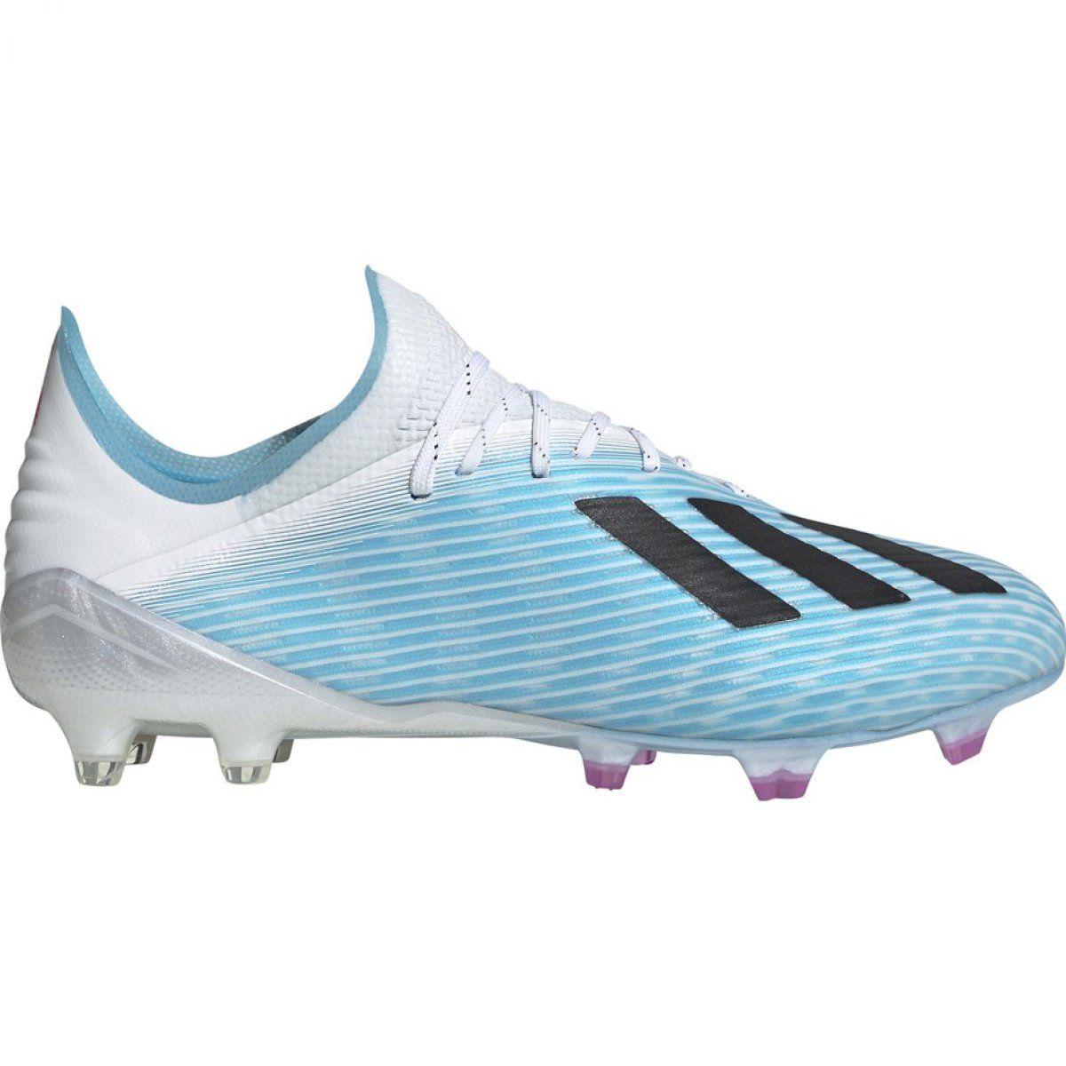 Buty Pilkarskie Adidas X 19 1 M Fg F35316 Niebieskie Wielokolorowe Football Shoes Mens Football Boots Blue Shoes