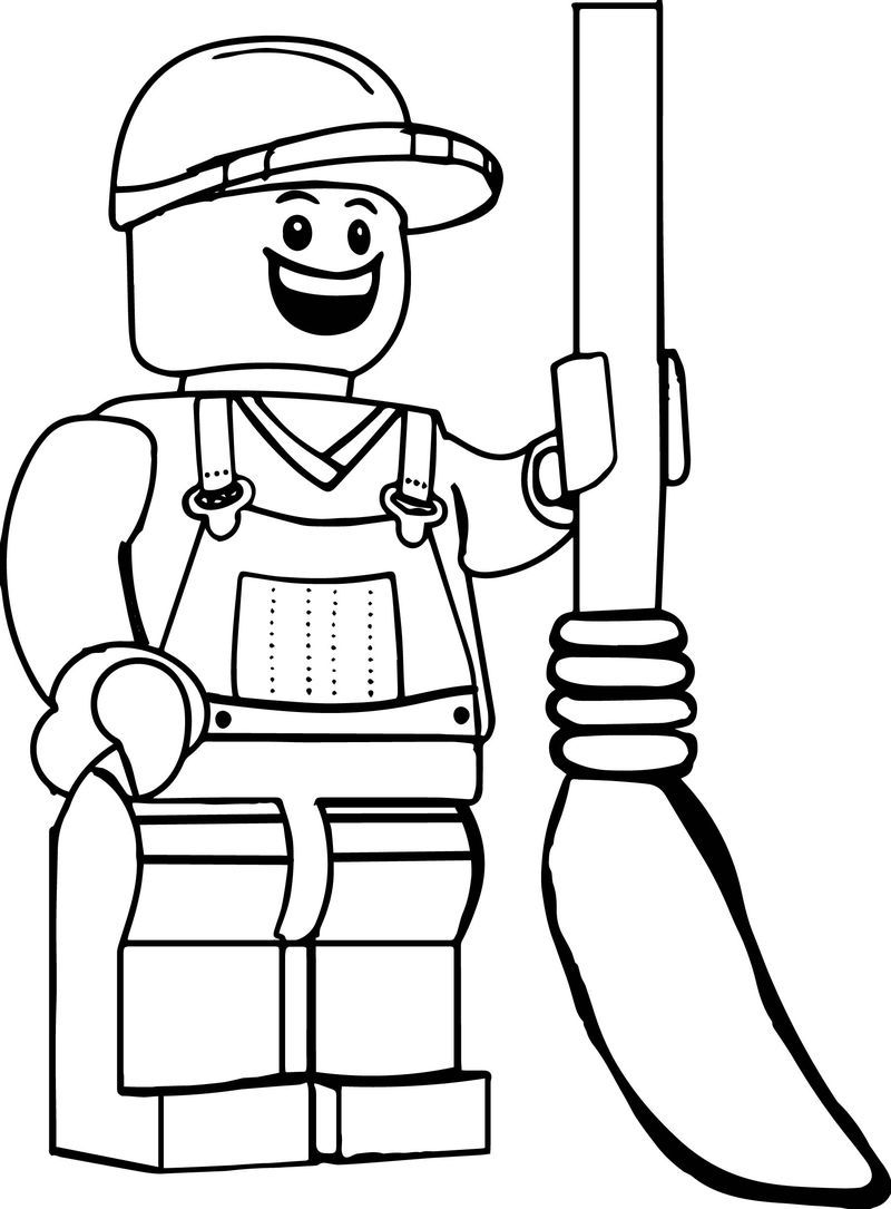 Garbage Guy Lego Coloring Page
