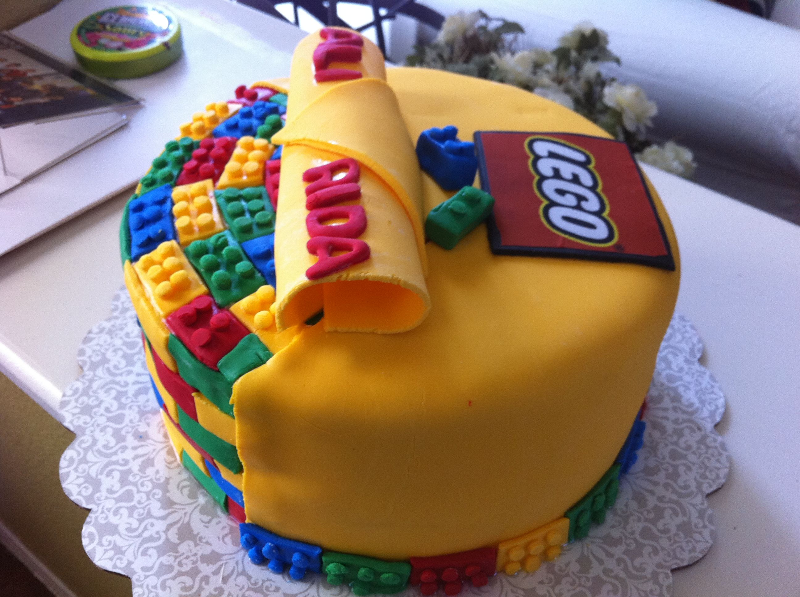 boy birthday lego theme Lego Cake Childrens Birthday Cakes