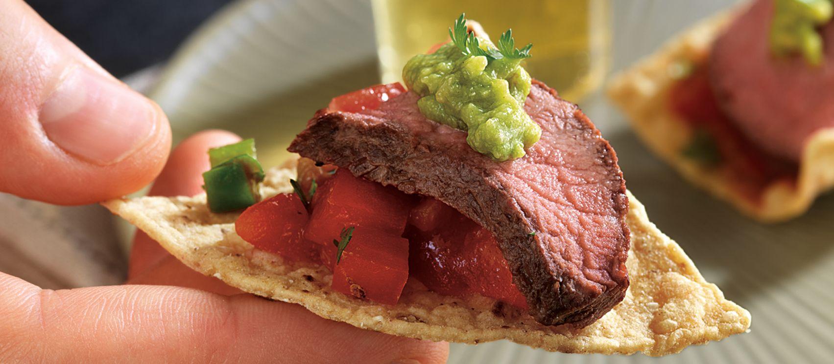Grilled salsa steak appetizer steak bites recipe
