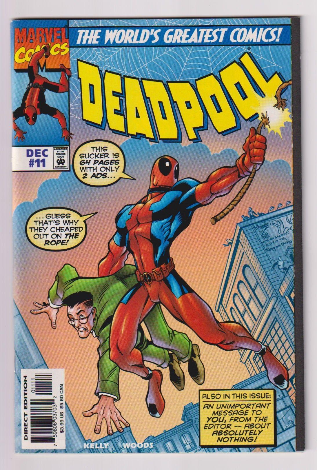 Deadpool Vol 1 11 Modern Age Comic Book Nm 9 4 Etsy Vintage Comic Books Comics Marvel Comics Vintage