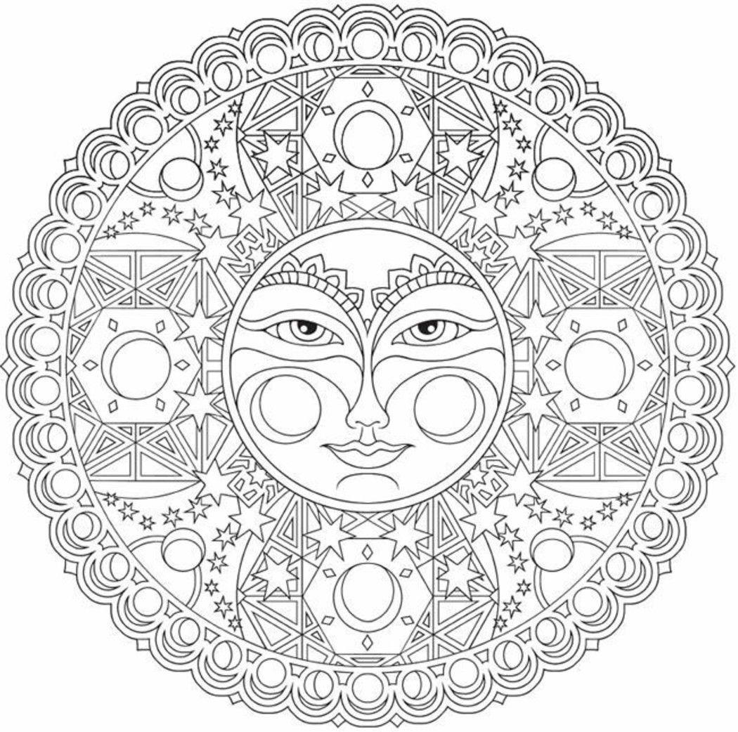 Mandala Da Colorare Difficili Omalovanky Mandala