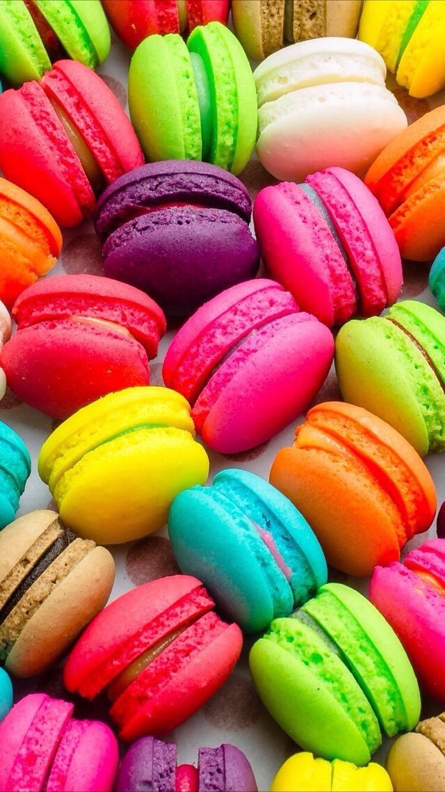 Fondos de muchos colores in 2019 food wallpaper - Macaron iphone wallpaper ...