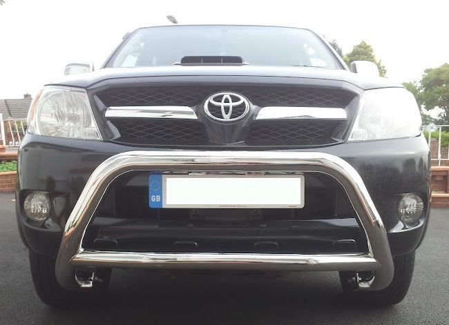 Toyota Hilux MK6 Stainless Steel Nudge Bar / A-Bar  Easy to