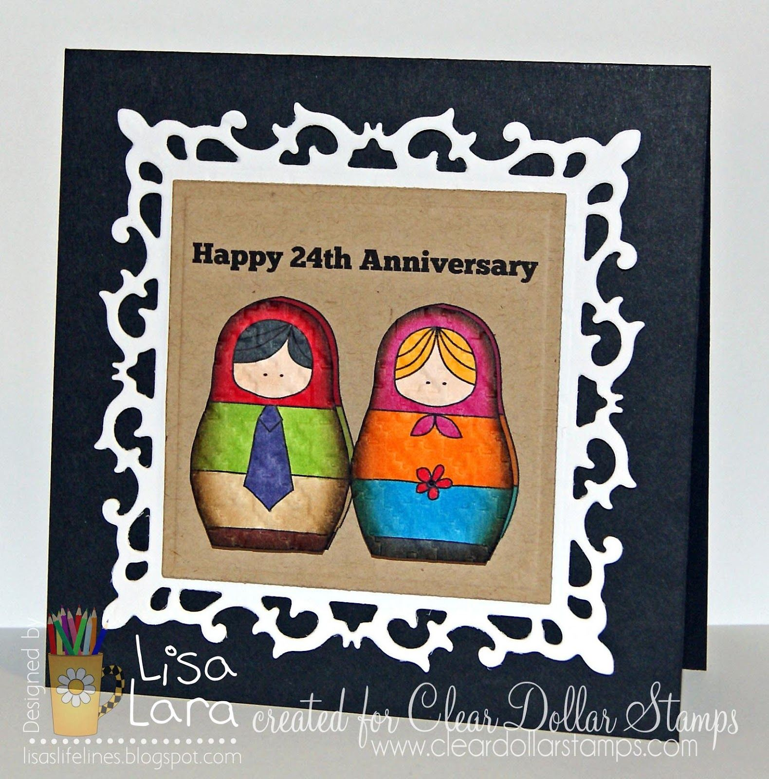 Lisa's Life Lines Happy 24th Nesters Card Making