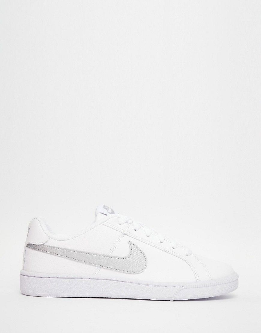 Image 2 of Nike White & Silver Court Royal Trainers