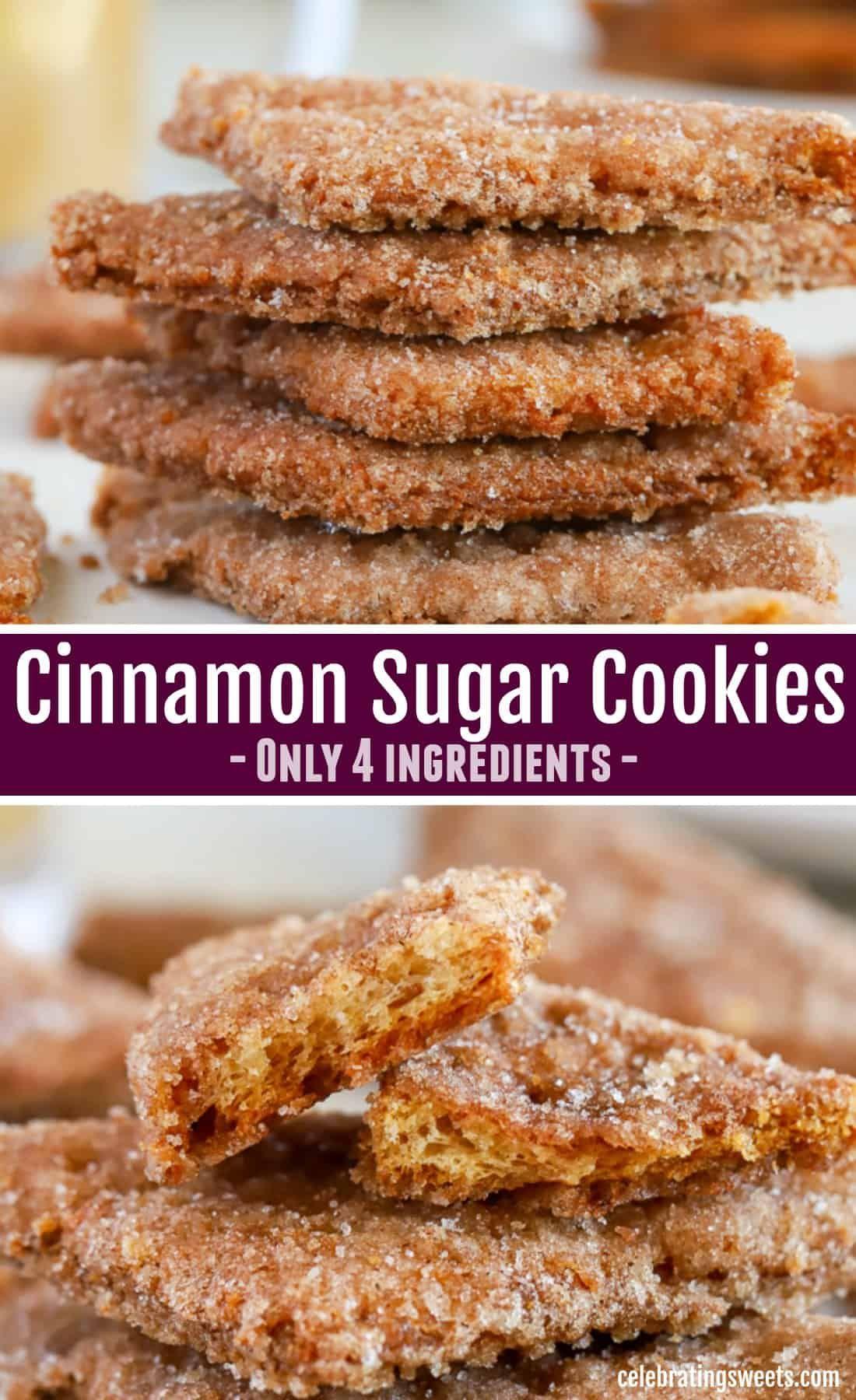 Cinnamon Sugar Cookies - Celebrating Sweets