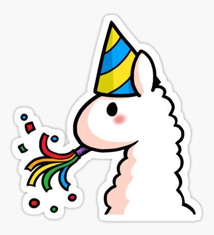 Happy birthday llama sticker