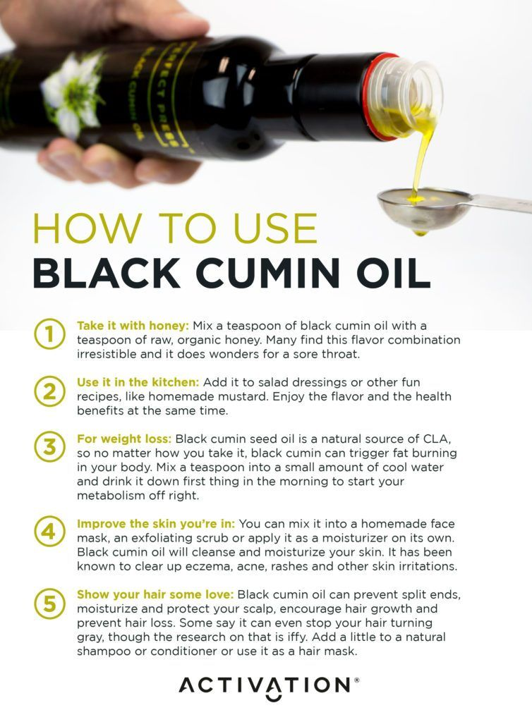 activation products black cumin oil