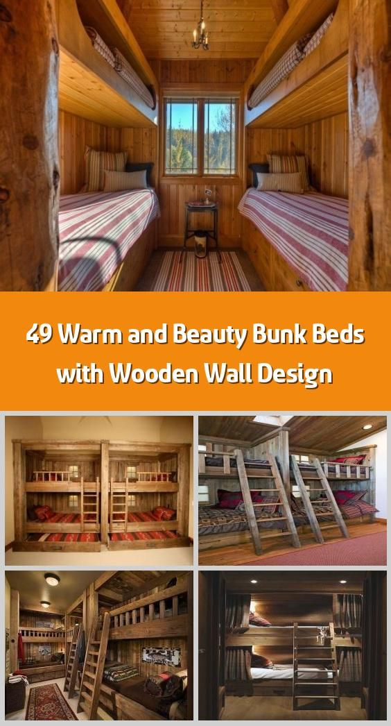 Photo of 49 Warm and Beauty Bunk Beds with Wooden Wall Design –    Decide where you would…