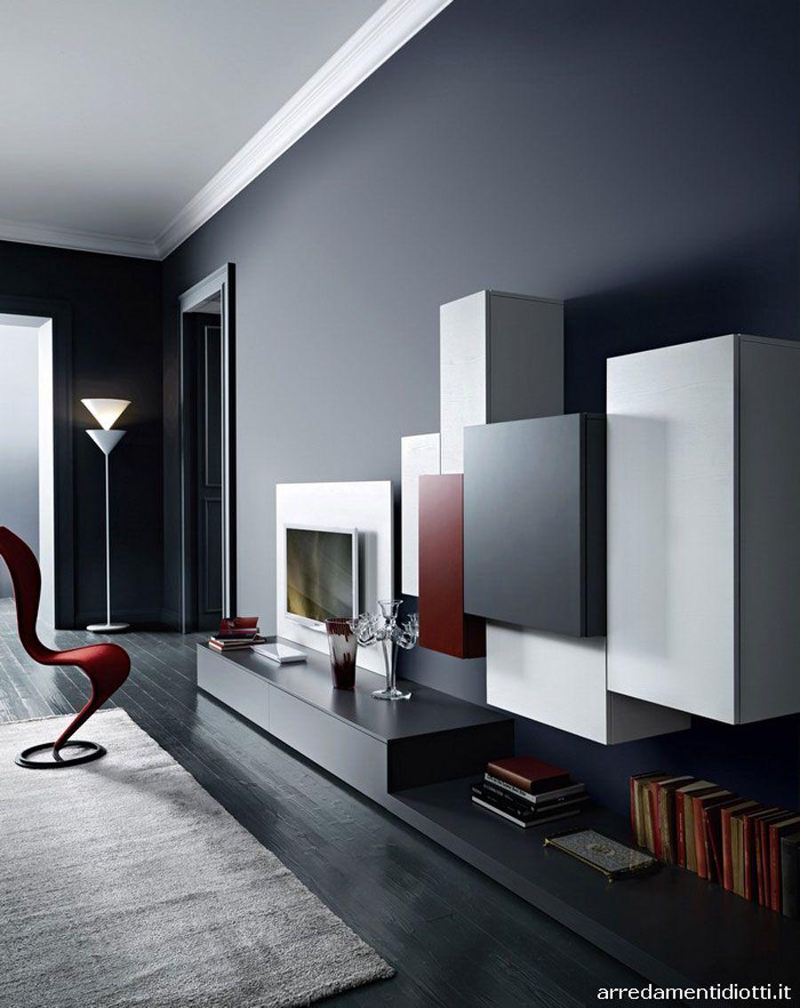 Pareti Attrezzate Moderne: 70 Idee di Design per Arredare Casa ...