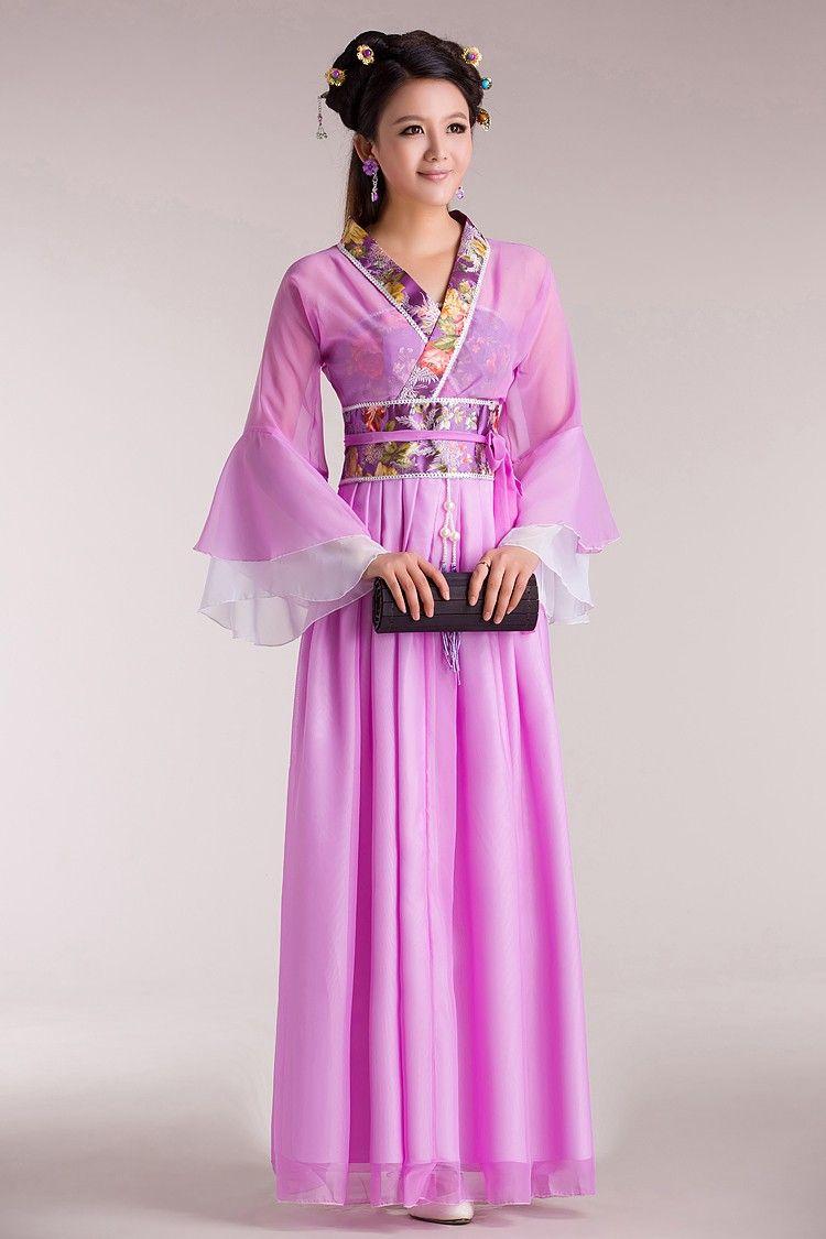 Chinese Traditional Women Hanfu Dress Chinese Fairy Dress Red White ...