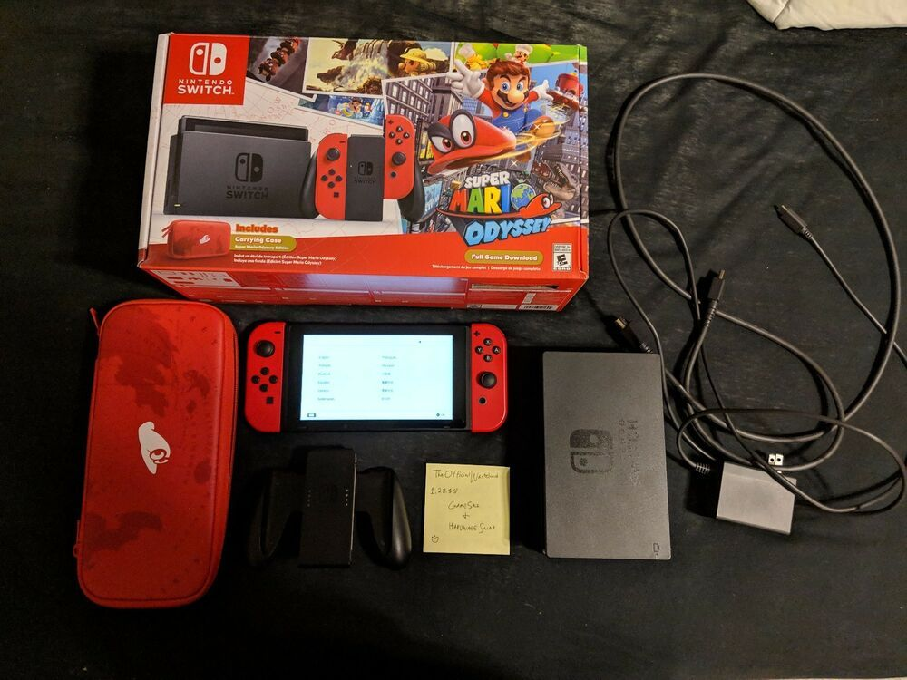Nintendo Switch Super Mario Odyssey Limited Edition Console