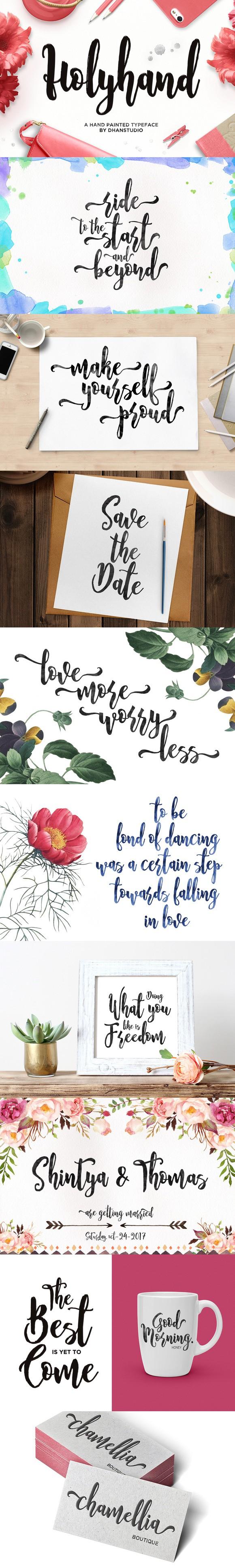 Holyhand Script. Script Fonts. 10.00 Wedding fonts
