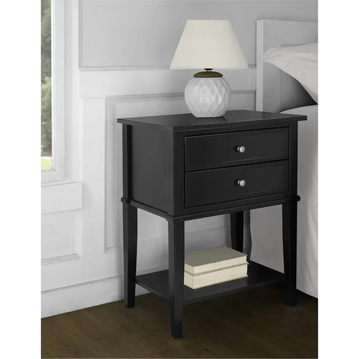 Dmitry 2 Drawer End Table In 2020 Side Table With Storage End