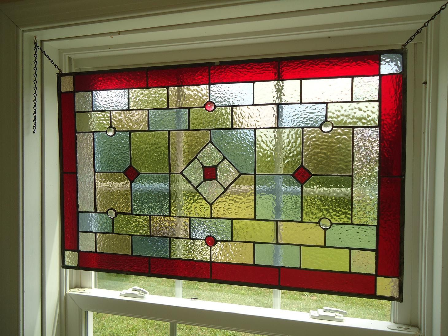 Tiffany Styled Stained Glass Window Panel Valance Curtain X