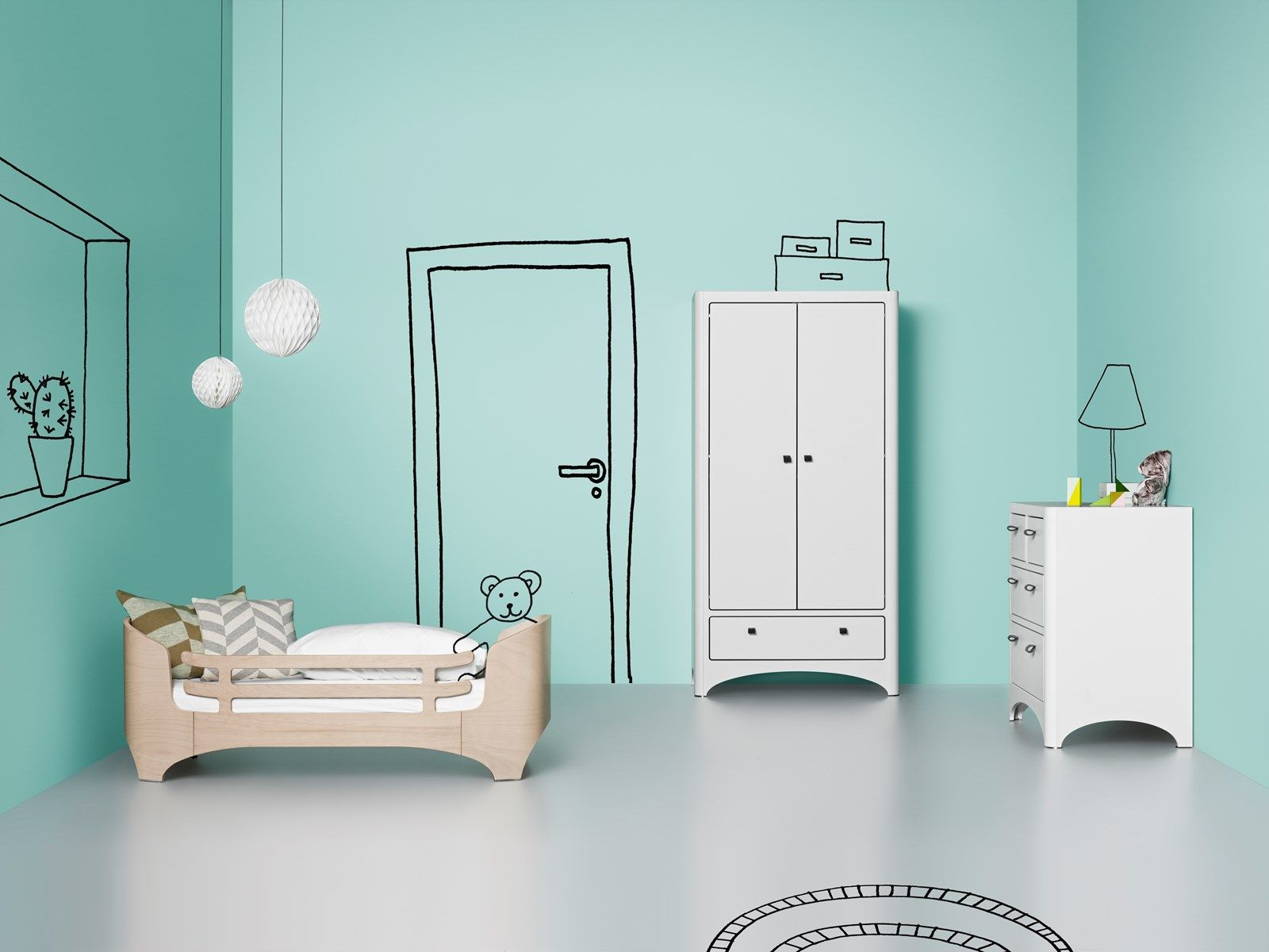 chambre enfant leander lit volutif armoire 2 portes commode leander design scandinave brnevrelset pinterest design and armoires - Chambre Bebe Design Scandinave