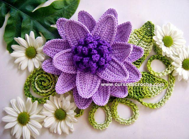 mor örgü çiçek