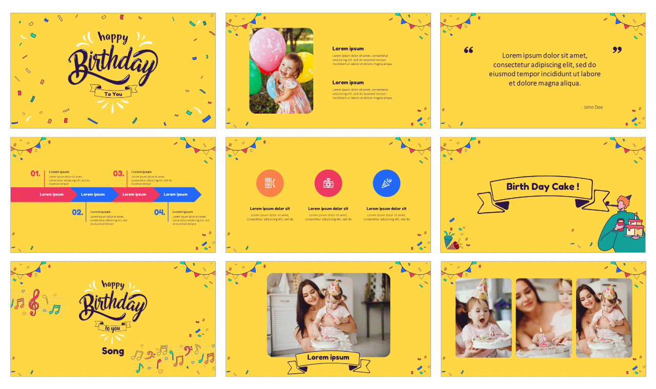 Birthday Party For Free Powerpoint Templates Google Slides Theme Google Slides Themes Birthday Card Pop Up Powerpoint Design Templates