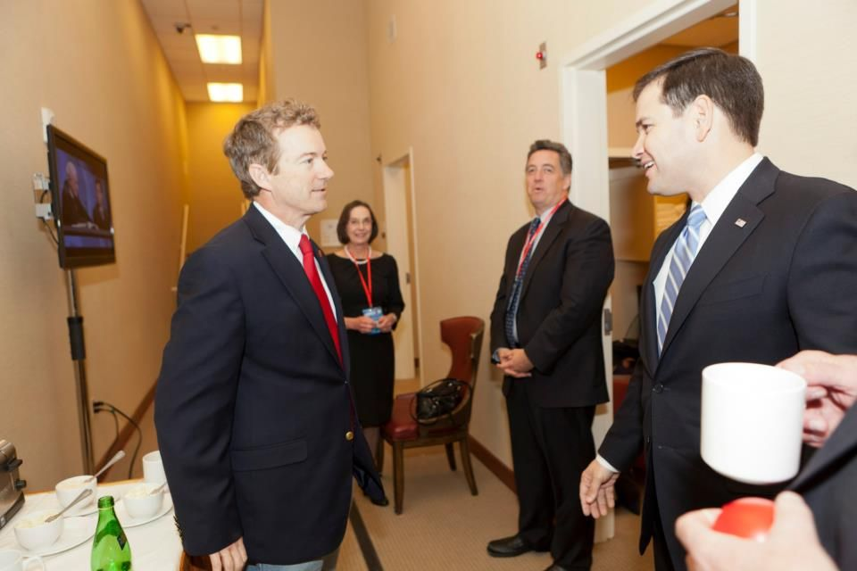 Marco Rubio and Rand Paul at CPAC 2013