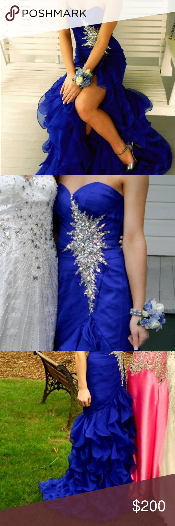 Prom dress prom thighs and royal blue
