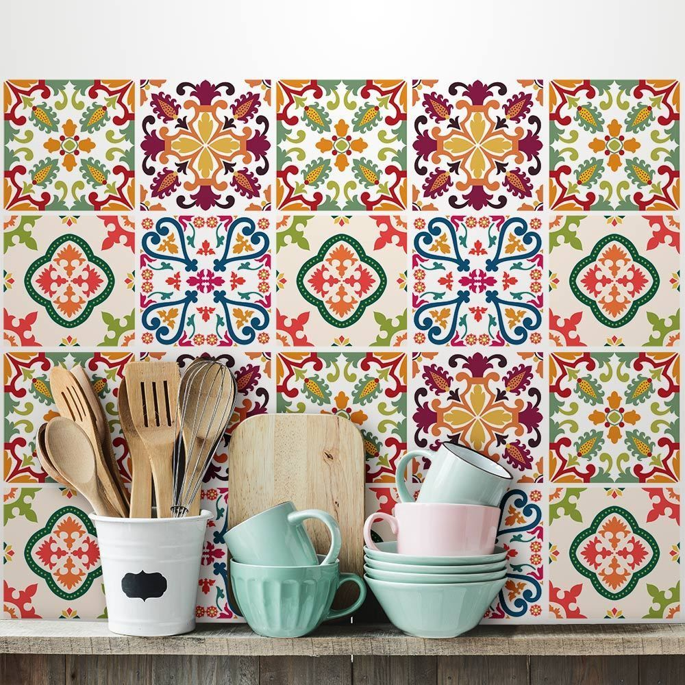Ps00037 adesivi murali in pvc per piastrelle per bagno e for Stickers per piastrelle cucina