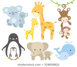 Cute Animals Cartoon Images Stock Photos Vectors Shutterstock Cute Animals Cartoon Animal Clipart Animals And Babies