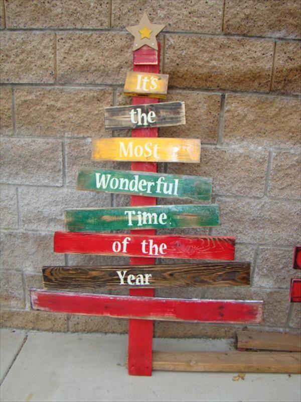 Výsledek obrázku pro pallet christmas tree | christmas | Pinterest ...