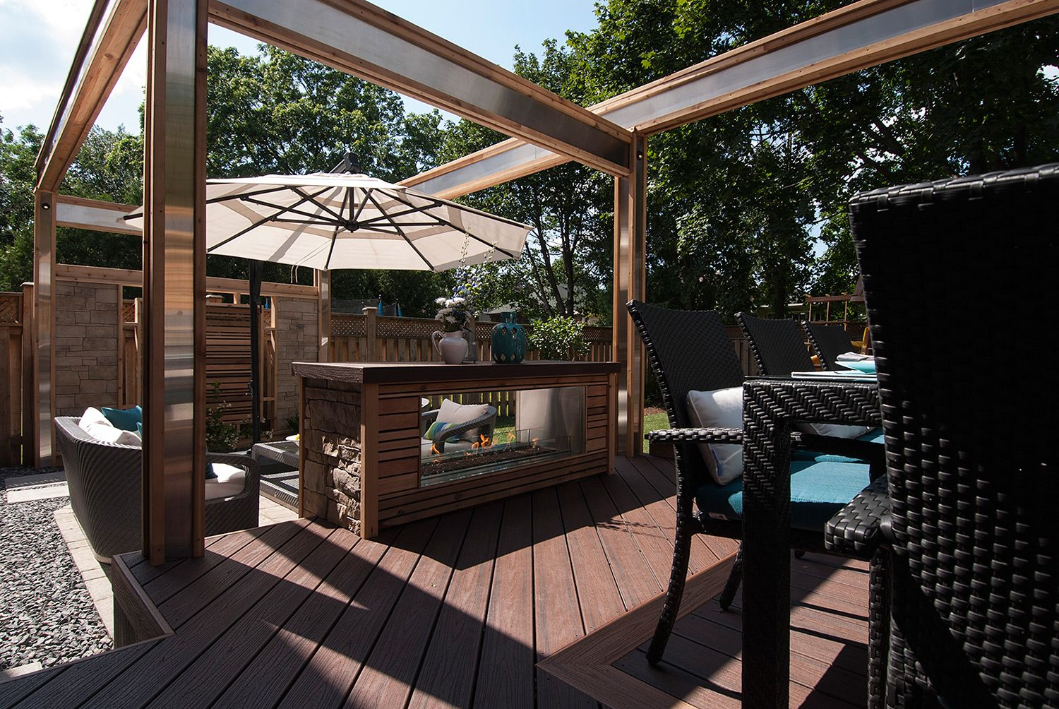 Decked Out Season 4 Gallery Paul Lafrance Design Deck Design Backyard Pool Fire Features
