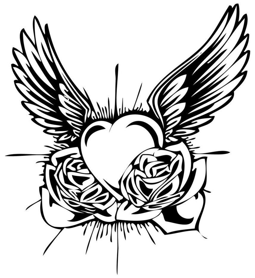 tattoos for men ideas on paper - Google Search | Heart