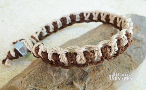 Mens Bracelet Thick Hemp Bracelet Industrial Hemp Jewelry
