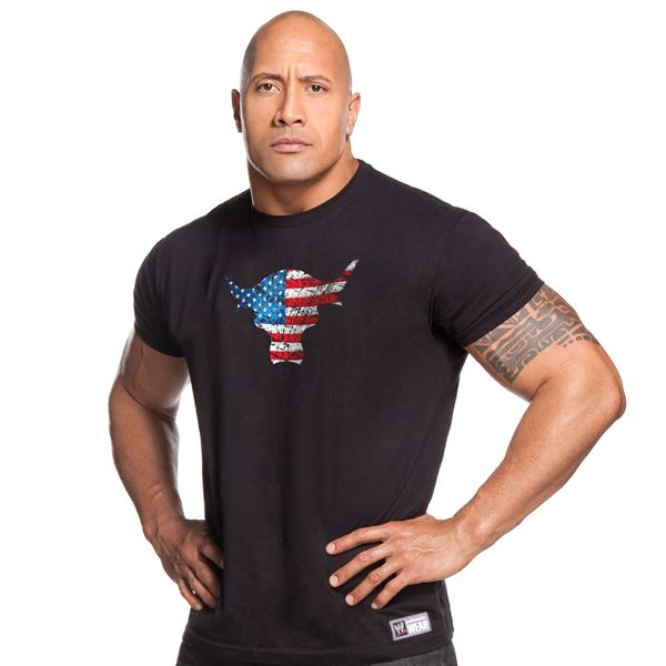 d8a94379ec372 WWE The Rock Team Bring It USA T-Shirt