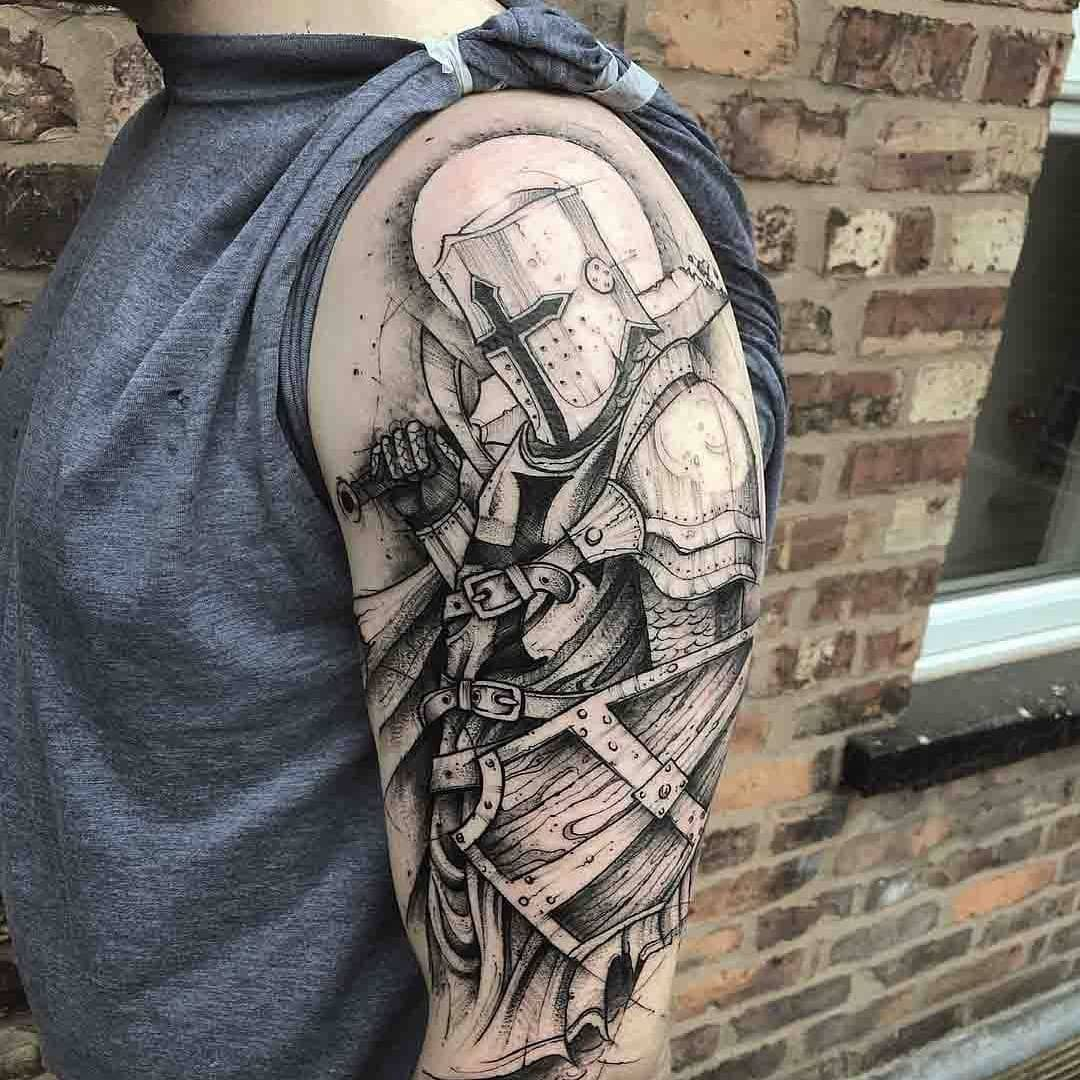 47 Amazing Tattoo Designs All Men Must See And Try It Amazing Tattoo Ideas Amazing Tattoo Designs Amazing Tatt Knight Tattoo Medieval Tattoo Shield Tattoo