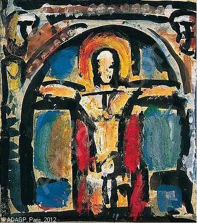 Georges Rouault - Christ on the Cross (representational)