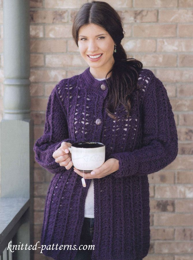 Free Crochet Women\'s Coat Patterns | a a | Pinterest | Coat ...