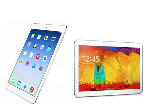 iPad Air in the face of Galaxy Note 10.1 version 2014