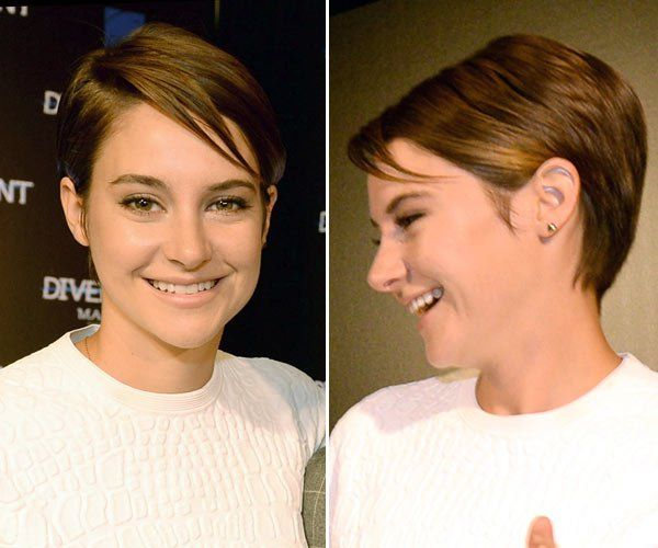 amazing haircuts shailene woodley shows pixie cut at divergent 4496