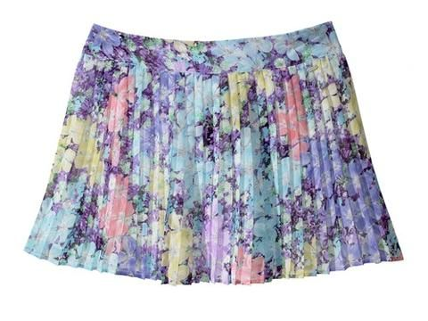 Sub Floral Pleated Skirt | Aeropostale - love the colors!